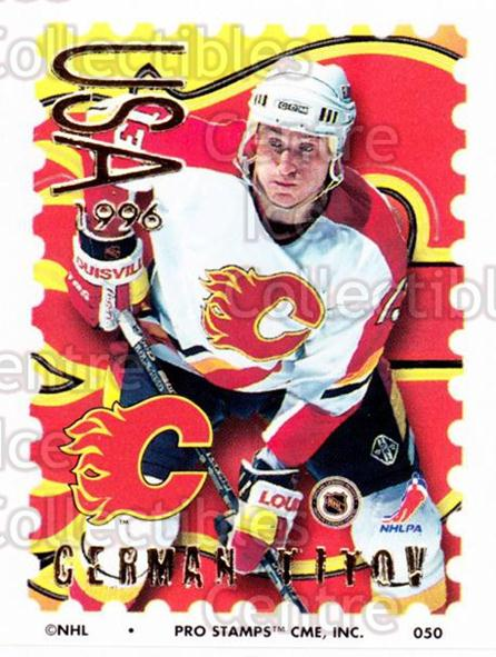 1996-97 NHL Pro Stamps #50 German Titov<br/>33 In Stock - $2.00 each - <a href=https://centericecollectibles.foxycart.com/cart?name=1996-97%20NHL%20Pro%20Stamps%20%2350%20German%20Titov...&quantity_max=33&price=$2.00&code=50234 class=foxycart> Buy it now! </a>