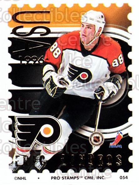 1996-97 NHL Pro Stamps #54 Eric Lindros<br/>23 In Stock - $2.00 each - <a href=https://centericecollectibles.foxycart.com/cart?name=1996-97%20NHL%20Pro%20Stamps%20%2354%20Eric%20Lindros...&quantity_max=23&price=$2.00&code=50238 class=foxycart> Buy it now! </a>