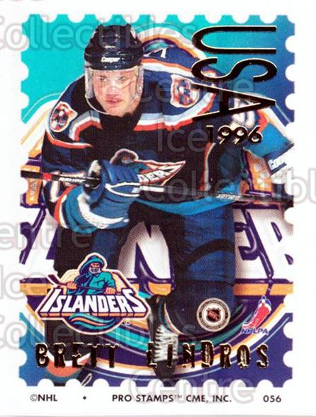 1996-97 NHL Pro Stamps #56 Brett Lindros<br/>30 In Stock - $2.00 each - <a href=https://centericecollectibles.foxycart.com/cart?name=1996-97%20NHL%20Pro%20Stamps%20%2356%20Brett%20Lindros...&quantity_max=30&price=$2.00&code=50240 class=foxycart> Buy it now! </a>