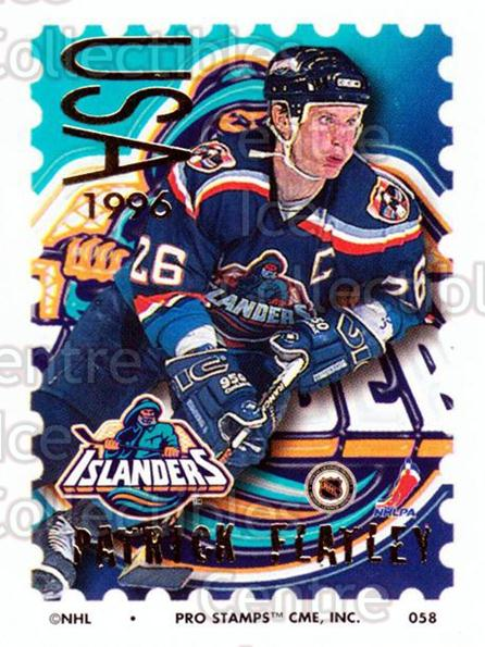 1996-97 NHL Pro Stamps #58 Pat Flatley<br/>30 In Stock - $2.00 each - <a href=https://centericecollectibles.foxycart.com/cart?name=1996-97%20NHL%20Pro%20Stamps%20%2358%20Pat%20Flatley...&quantity_max=30&price=$2.00&code=50242 class=foxycart> Buy it now! </a>