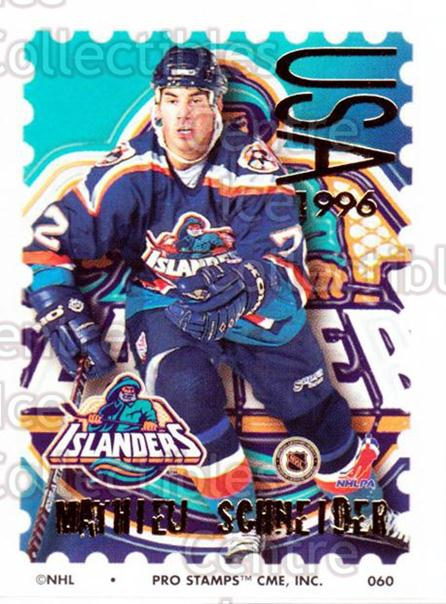 1996-97 NHL Pro Stamps #60 Mathieu Schneider<br/>33 In Stock - $2.00 each - <a href=https://centericecollectibles.foxycart.com/cart?name=1996-97%20NHL%20Pro%20Stamps%20%2360%20Mathieu%20Schneid...&quantity_max=33&price=$2.00&code=50245 class=foxycart> Buy it now! </a>