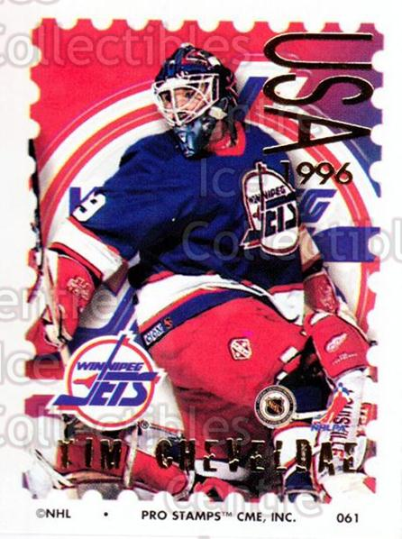 1996-97 NHL Pro Stamps #61 Tim Cheveldae<br/>24 In Stock - $2.00 each - <a href=https://centericecollectibles.foxycart.com/cart?name=1996-97%20NHL%20Pro%20Stamps%20%2361%20Tim%20Cheveldae...&quantity_max=24&price=$2.00&code=50246 class=foxycart> Buy it now! </a>