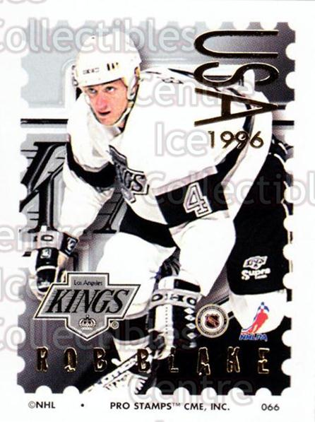 1996-97 NHL Pro Stamps #66 Rob Blake<br/>33 In Stock - $2.00 each - <a href=https://centericecollectibles.foxycart.com/cart?name=1996-97%20NHL%20Pro%20Stamps%20%2366%20Rob%20Blake...&quantity_max=33&price=$2.00&code=50250 class=foxycart> Buy it now! </a>