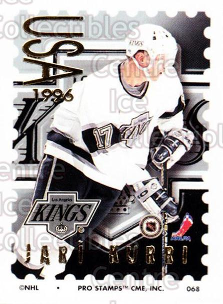 1996-97 NHL Pro Stamps #68 Jari Kurri<br/>26 In Stock - $2.00 each - <a href=https://centericecollectibles.foxycart.com/cart?name=1996-97%20NHL%20Pro%20Stamps%20%2368%20Jari%20Kurri...&quantity_max=26&price=$2.00&code=50251 class=foxycart> Buy it now! </a>