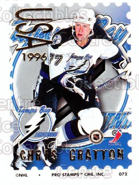 1996-97 NHL Pro Stamps #72 Chris Gratton<br/>34 In Stock - $2.00 each - <a href=https://centericecollectibles.foxycart.com/cart?name=1996-97%20NHL%20Pro%20Stamps%20%2372%20Chris%20Gratton...&quantity_max=34&price=$2.00&code=50256 class=foxycart> Buy it now! </a>