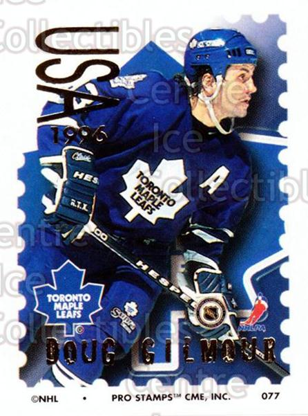 1996-97 NHL Pro Stamps #77 Doug Gilmour<br/>13 In Stock - $2.00 each - <a href=https://centericecollectibles.foxycart.com/cart?name=1996-97%20NHL%20Pro%20Stamps%20%2377%20Doug%20Gilmour...&quantity_max=13&price=$2.00&code=50261 class=foxycart> Buy it now! </a>
