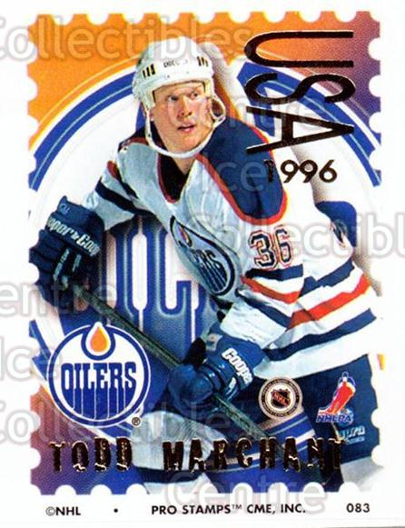 1996-97 NHL Pro Stamps #83 Todd Marchant<br/>28 In Stock - $2.00 each - <a href=https://centericecollectibles.foxycart.com/cart?name=1996-97%20NHL%20Pro%20Stamps%20%2383%20Todd%20Marchant...&quantity_max=28&price=$2.00&code=50268 class=foxycart> Buy it now! </a>