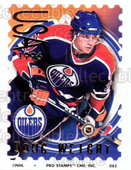 1996-97 NHL Pro Stamps #85 Doug Weight<br/>29 In Stock - $2.00 each - <a href=https://centericecollectibles.foxycart.com/cart?name=1996-97%20NHL%20Pro%20Stamps%20%2385%20Doug%20Weight...&quantity_max=29&price=$2.00&code=50270 class=foxycart> Buy it now! </a>