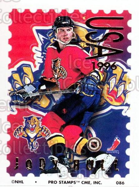 1996-97 NHL Pro Stamps #86 Jody Hull<br/>34 In Stock - $2.00 each - <a href=https://centericecollectibles.foxycart.com/cart?name=1996-97%20NHL%20Pro%20Stamps%20%2386%20Jody%20Hull...&quantity_max=34&price=$2.00&code=50271 class=foxycart> Buy it now! </a>