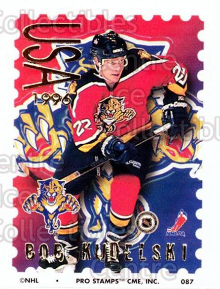 1996-97 NHL Pro Stamps #87 Bob Kudelski<br/>33 In Stock - $2.00 each - <a href=https://centericecollectibles.foxycart.com/cart?name=1996-97%20NHL%20Pro%20Stamps%20%2387%20Bob%20Kudelski...&quantity_max=33&price=$2.00&code=50272 class=foxycart> Buy it now! </a>
