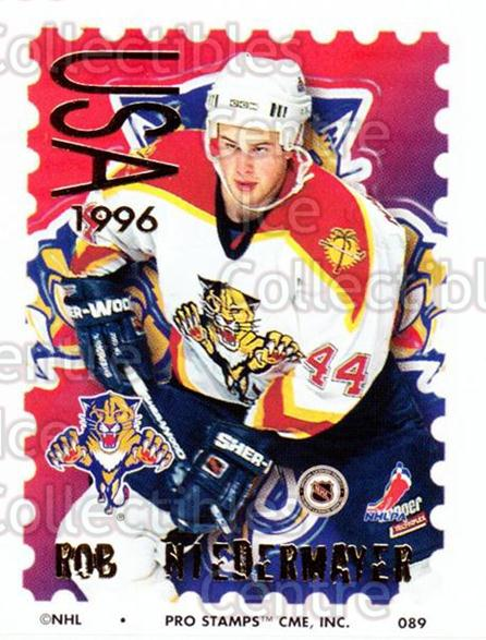 1996-97 NHL Pro Stamps #89 Rob Niedermayer<br/>33 In Stock - $2.00 each - <a href=https://centericecollectibles.foxycart.com/cart?name=1996-97%20NHL%20Pro%20Stamps%20%2389%20Rob%20Niedermayer...&quantity_max=33&price=$2.00&code=50274 class=foxycart> Buy it now! </a>