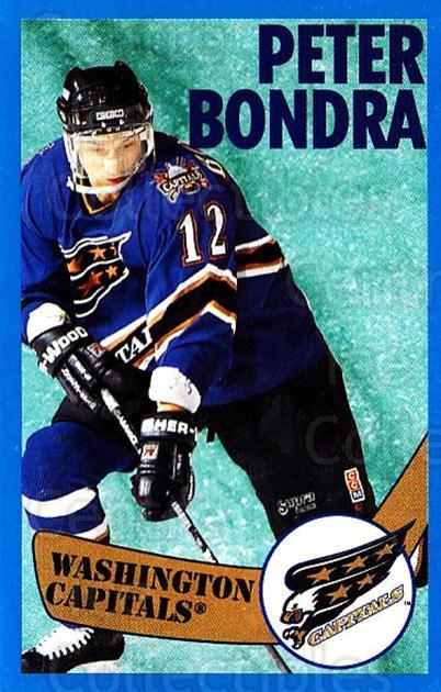 1996-97 Panini Stickers #133 Peter Bondra<br/>3 In Stock - $1.00 each - <a href=https://centericecollectibles.foxycart.com/cart?name=1996-97%20Panini%20Stickers%20%23133%20Peter%20Bondra...&quantity_max=3&price=$1.00&code=50322 class=foxycart> Buy it now! </a>