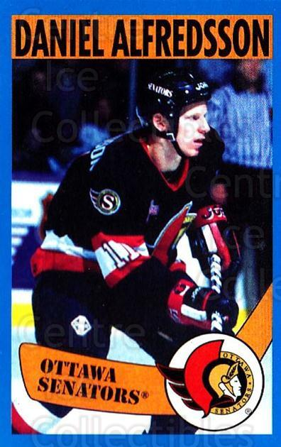 1996-97 Panini Stickers #152 Daniel Alfredsson<br/>3 In Stock - $1.00 each - <a href=https://centericecollectibles.foxycart.com/cart?name=1996-97%20Panini%20Stickers%20%23152%20Daniel%20Alfredss...&quantity_max=3&price=$1.00&code=50341 class=foxycart> Buy it now! </a>