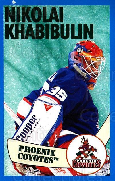 1996-97 Panini Stickers #189 Nikolai Khabibulin<br/>3 In Stock - $1.00 each - <a href=https://centericecollectibles.foxycart.com/cart?name=1996-97%20Panini%20Stickers%20%23189%20Nikolai%20Khabibu...&quantity_max=3&price=$1.00&code=50377 class=foxycart> Buy it now! </a>