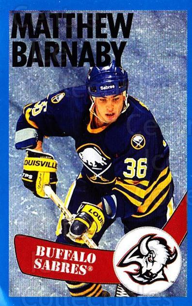 1996-97 Panini Stickers #20 Matthew Barnaby<br/>6 In Stock - $1.00 each - <a href=https://centericecollectibles.foxycart.com/cart?name=1996-97%20Panini%20Stickers%20%2320%20Matthew%20Barnaby...&quantity_max=6&price=$1.00&code=50390 class=foxycart> Buy it now! </a>