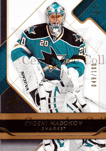 2008-09 Sp Game Used Gold #89 Evgeni Nabokov<br/>1 In Stock - $5.00 each - <a href=https://centericecollectibles.foxycart.com/cart?name=2008-09%20Sp%20Game%20Used%20Gold%20%2389%20Evgeni%20Nabokov...&quantity_max=1&price=$5.00&code=504725 class=foxycart> Buy it now! </a>