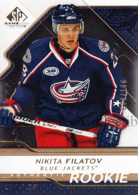 2008-09 Sp Game Used Gold #113 Nikita Filatov<br/>1 In Stock - $5.00 each - <a href=https://centericecollectibles.foxycart.com/cart?name=2008-09%20Sp%20Game%20Used%20Gold%20%23113%20Nikita%20Filatov...&quantity_max=1&price=$5.00&code=504749 class=foxycart> Buy it now! </a>