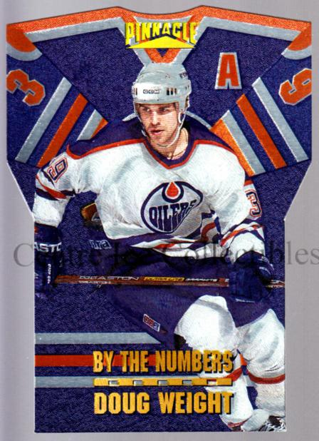 1996-97 Pinnacle By The Numbers #5 Doug Weight<br/>4 In Stock - $5.00 each - <a href=https://centericecollectibles.foxycart.com/cart?name=1996-97%20Pinnacle%20By%20The%20Numbers%20%235%20Doug%20Weight...&quantity_max=4&price=$5.00&code=50477 class=foxycart> Buy it now! </a>