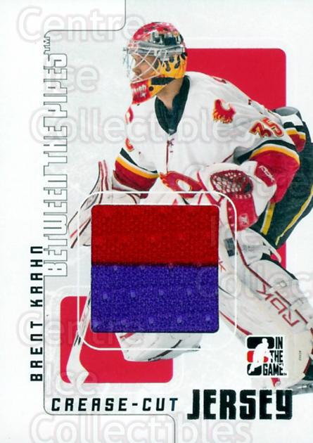 2007-08 Between The Pipes Crease Cut Jersey #56 Brent Krahn<br/>1 In Stock - $5.00 each - <a href=https://centericecollectibles.foxycart.com/cart?name=2007-08%20Between%20The%20Pipes%20Crease%20Cut%20Jersey%20%2356%20Brent%20Krahn...&quantity_max=1&price=$5.00&code=505389 class=foxycart> Buy it now! </a>