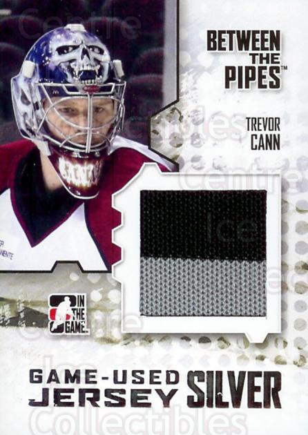 2009-10 Between The Pipes Jersey Silver #4 Trevor Cann<br/>1 In Stock - $10.00 each - <a href=https://centericecollectibles.foxycart.com/cart?name=2009-10%20Between%20The%20Pipes%20Jersey%20Silver%20%234%20Trevor%20Cann...&quantity_max=1&price=$10.00&code=505681 class=foxycart> Buy it now! </a>