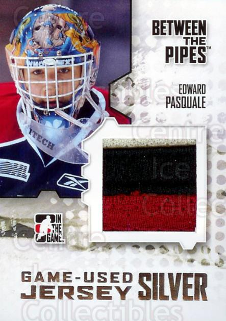 2009-10 Between The Pipes Jersey Silver #28 Edward Pasquale<br/>1 In Stock - $10.00 each - <a href=https://centericecollectibles.foxycart.com/cart?name=2009-10%20Between%20The%20Pipes%20Jersey%20Silver%20%2328%20Edward%20Pasquale...&quantity_max=1&price=$10.00&code=505705 class=foxycart> Buy it now! </a>