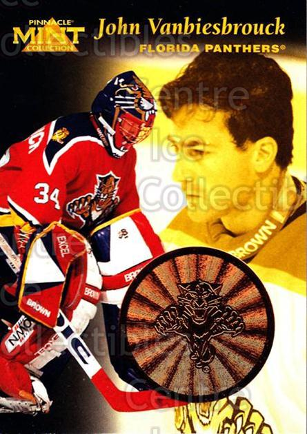 1996-97 Pinnacle Mint Bronze #26 John Vanbiesbrouck<br/>7 In Stock - $2.00 each - <a href=https://centericecollectibles.foxycart.com/cart?name=1996-97%20Pinnacle%20Mint%20Bronze%20%2326%20John%20Vanbiesbro...&quantity_max=7&price=$2.00&code=50648 class=foxycart> Buy it now! </a>