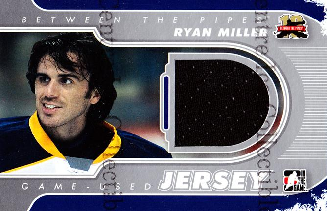 2011-12 Between The Pipes Jersey Silver #31 Ryan Miller<br/>1 In Stock - $5.00 each - <a href=https://centericecollectibles.foxycart.com/cart?name=2011-12%20Between%20The%20Pipes%20Jersey%20Silver%20%2331%20Ryan%20Miller...&quantity_max=1&price=$5.00&code=506636 class=foxycart> Buy it now! </a>