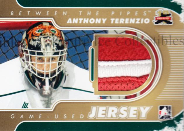 2011-12 Between The Pipes Jersey Gold #60 Anthony Terenzio<br/>1 In Stock - $15.00 each - <a href=https://centericecollectibles.foxycart.com/cart?name=2011-12%20Between%20The%20Pipes%20Jersey%20Gold%20%2360%20Anthony%20Terenzi...&quantity_max=1&price=$15.00&code=506725 class=foxycart> Buy it now! </a>