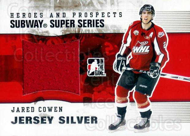 2009-10 ITG Heroes and Prospects Subway Jersey Silver #30 Jared Cowen<br/>1 In Stock - $10.00 each - <a href=https://centericecollectibles.foxycart.com/cart?name=2009-10%20ITG%20Heroes%20and%20Prospects%20Subway%20Jersey%20Silver%20%2330%20Jared%20Cowen...&quantity_max=1&price=$10.00&code=506930 class=foxycart> Buy it now! </a>
