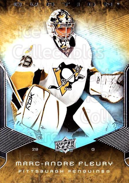 2008-09 UD Ovation #188 Marc-Andre Fleury<br/>1 In Stock - $2.00 each - <a href=https://centericecollectibles.foxycart.com/cart?name=2008-09%20UD%20Ovation%20%23188%20Marc-Andre%20Fleu...&quantity_max=1&price=$2.00&code=507210 class=foxycart> Buy it now! </a>