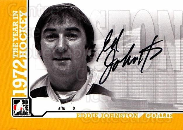 2009-10 ITG 1972 The Year In Hockey Auto #AEJ Eddie Johnston<br/>1 In Stock - $10.00 each - <a href=https://centericecollectibles.foxycart.com/cart?name=2009-10%20ITG%201972%20The%20Year%20In%20Hockey%20Auto%20%23AEJ%20Eddie%20Johnston...&quantity_max=1&price=$10.00&code=507468 class=foxycart> Buy it now! </a>