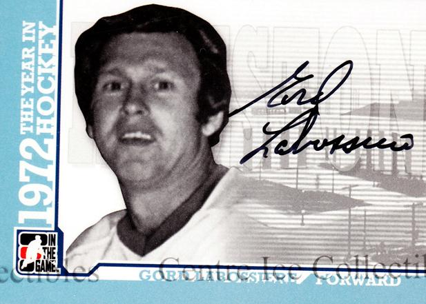 2009-10 ITG 1972 The Year In Hockey Auto #AGLAB Gord Labossiere<br/>1 In Stock - $10.00 each - <a href=https://centericecollectibles.foxycart.com/cart?name=2009-10%20ITG%201972%20The%20Year%20In%20Hockey%20Auto%20%23AGLAB%20Gord%20Labossiere...&quantity_max=1&price=$10.00&code=507483 class=foxycart> Buy it now! </a>