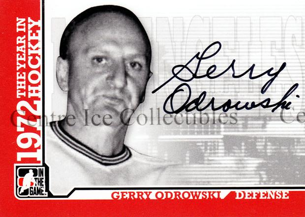 2009-10 ITG 1972 The Year In Hockey Auto #AGO Gerry Odrowski<br/>4 In Stock - $10.00 each - <a href=https://centericecollectibles.foxycart.com/cart?name=2009-10%20ITG%201972%20The%20Year%20In%20Hockey%20Auto%20%23AGO%20Gerry%20Odrowski...&quantity_max=4&price=$10.00&code=507485 class=foxycart> Buy it now! </a>