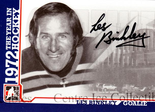 2009-10 ITG 1972 The Year In Hockey Auto #ALB Les Binkley<br/>1 In Stock - $10.00 each - <a href=https://centericecollectibles.foxycart.com/cart?name=2009-10%20ITG%201972%20The%20Year%20In%20Hockey%20Auto%20%23ALB%20Les%20Binkley...&quantity_max=1&price=$10.00&code=507513 class=foxycart> Buy it now! </a>
