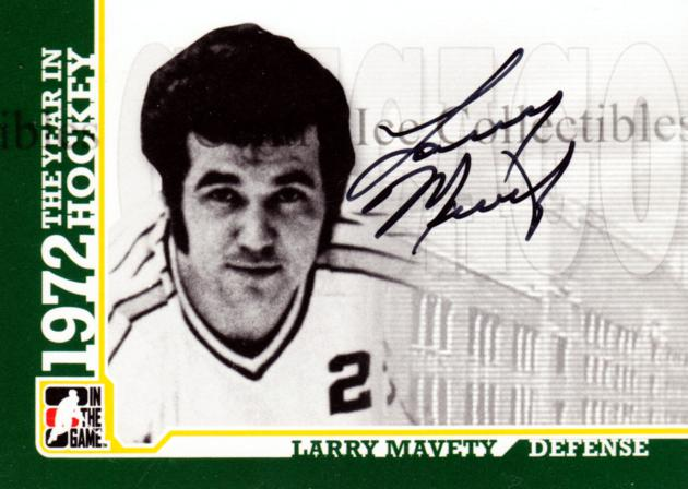 2009-10 ITG 1972 The Year In Hockey Auto #ALMA Larry Mavety<br/>3 In Stock - $10.00 each - <a href=https://centericecollectibles.foxycart.com/cart?name=2009-10%20ITG%201972%20The%20Year%20In%20Hockey%20Auto%20%23ALMA%20Larry%20Mavety...&quantity_max=3&price=$10.00&code=507516 class=foxycart> Buy it now! </a>