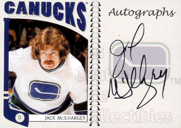 2004-05 ITG Franchises Canadian Auto #JMLO Jack McIlhargey<br/>6 In Stock - $10.00 each - <a href=https://centericecollectibles.foxycart.com/cart?name=2004-05%20ITG%20Franchises%20Canadian%20Auto%20%23JMLO%20Jack%20McIlhargey...&quantity_max=6&price=$10.00&code=507644 class=foxycart> Buy it now! </a>
