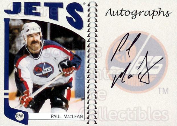 2004-05 ITG Franchises Canadian Auto #PML Paul MacLean<br/>5 In Stock - $10.00 each - <a href=https://centericecollectibles.foxycart.com/cart?name=2004-05%20ITG%20Franchises%20Canadian%20Auto%20%23PML%20Paul%20MacLean...&quantity_max=5&price=$10.00&code=507665 class=foxycart> Buy it now! </a>