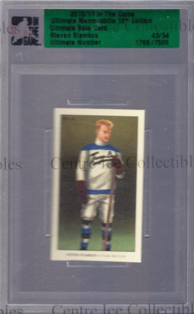 2010-11 ITG Ultimate Memorabilia Base Card #24 Steven Stamkos<br/>4 In Stock - $10.00 each - <a href=https://centericecollectibles.foxycart.com/cart?name=2010-11%20ITG%20Ultimate%20Memorabilia%20Base%20Card%20%2324%20Steven%20Stamkos...&price=$10.00&code=507712 class=foxycart> Buy it now! </a>