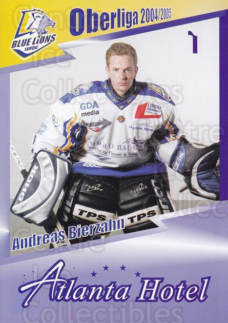 2004-05 German Leipzig Blue Lions Postcards #2 Andreas Bierzahn<br/>1 In Stock - $3.00 each - <a href=https://centericecollectibles.foxycart.com/cart?name=2004-05%20German%20Leipzig%20Blue%20Lions%20Postcards%20%232%20Andreas%20Bierzah...&quantity_max=1&price=$3.00&code=508163 class=foxycart> Buy it now! </a>