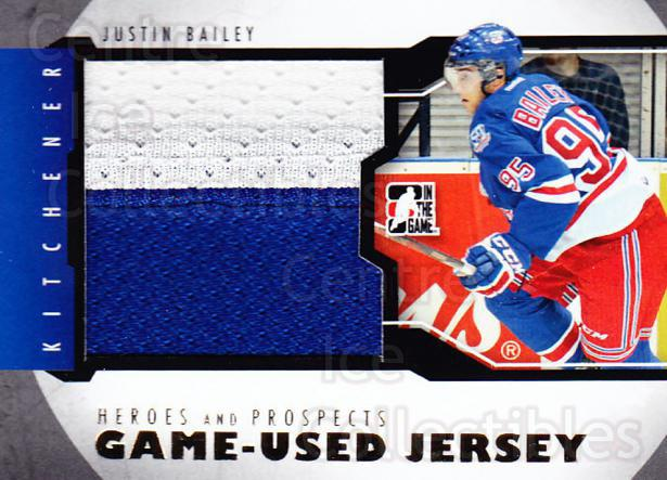 2012-13 ITG Heroes and Prospects Jersey Gold #3 Justin Bailey<br/>2 In Stock - $15.00 each - <a href=https://centericecollectibles.foxycart.com/cart?name=2012-13%20ITG%20Heroes%20and%20Prospects%20Jersey%20Gold%20%233%20Justin%20Bailey...&price=$15.00&code=508430 class=foxycart> Buy it now! </a>