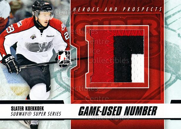 2012-13 ITG Heroes and Prospects Subway Number Black #15 Slater Koekkoek<br/>1 In Stock - $15.00 each - <a href=https://centericecollectibles.foxycart.com/cart?name=2012-13%20ITG%20Heroes%20and%20Prospects%20Subway%20Number%20Black%20%2315%20Slater%20Koekkoek...&quantity_max=1&price=$15.00&code=508577 class=foxycart> Buy it now! </a>