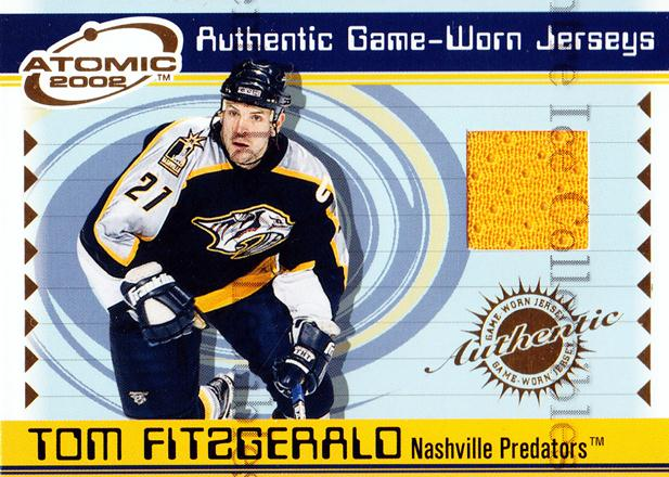 2001-02 Atomic Jersey #35 Tom Fitzgerald<br/>1 In Stock - $5.00 each - <a href=https://centericecollectibles.foxycart.com/cart?name=2001-02%20Atomic%20Jersey%20%2335%20Tom%20Fitzgerald...&quantity_max=1&price=$5.00&code=508974 class=foxycart> Buy it now! </a>