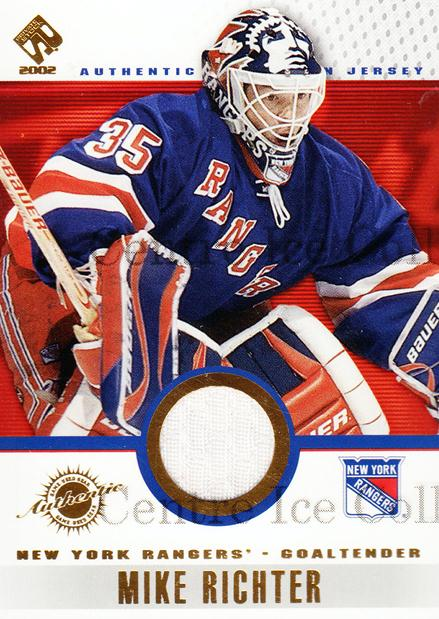 2001-02 Private Stock Game Gear #69 Mike Richter<br/>2 In Stock - $5.00 each - <a href=https://centericecollectibles.foxycart.com/cart?name=2001-02%20Private%20Stock%20Game%20Gear%20%2369%20Mike%20Richter...&quantity_max=2&price=$5.00&code=509238 class=foxycart> Buy it now! </a>
