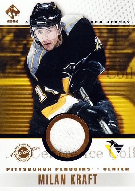 2001-02 Private Stock Game Gear #78 Milan Kraft<br/>2 In Stock - $5.00 each - <a href=https://centericecollectibles.foxycart.com/cart?name=2001-02%20Private%20Stock%20Game%20Gear%20%2378%20Milan%20Kraft...&quantity_max=2&price=$5.00&code=509247 class=foxycart> Buy it now! </a>