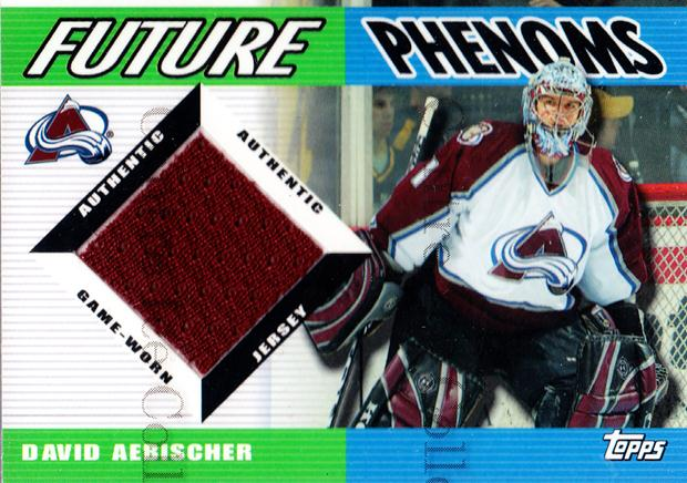 2003-04 Topps Traded Future Phenoms Jersey #FPDA David Aebischer<br/>1 In Stock - $5.00 each - <a href=https://centericecollectibles.foxycart.com/cart?name=2003-04%20Topps%20Traded%20Future%20Phenoms%20Jersey%20%23FPDA%20David%20Aebischer...&quantity_max=1&price=$5.00&code=509412 class=foxycart> Buy it now! </a>
