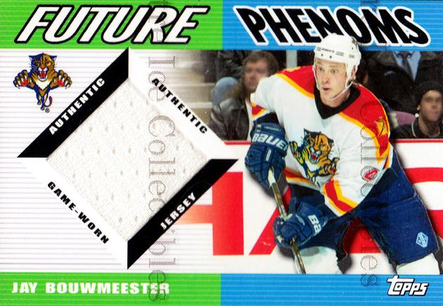 2003-04 Topps Traded Future Phenoms Jersey #FPJB Jay Bouwmeester<br/>1 In Stock - $5.00 each - <a href=https://centericecollectibles.foxycart.com/cart?name=2003-04%20Topps%20Traded%20Future%20Phenoms%20Jersey%20%23FPJB%20Jay%20Bouwmeester...&quantity_max=1&price=$5.00&code=509424 class=foxycart> Buy it now! </a>