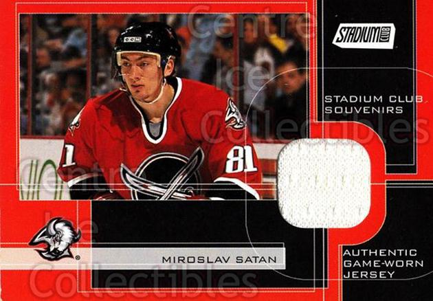 2001-02 Stadium Club Souvenirs #SCSMIS Miroslav Satan<br/>1 In Stock - $5.00 each - <a href=https://centericecollectibles.foxycart.com/cart?name=2001-02%20Stadium%20Club%20Souvenirs%20%23SCSMIS%20Miroslav%20Satan...&quantity_max=1&price=$5.00&code=509444 class=foxycart> Buy it now! </a>