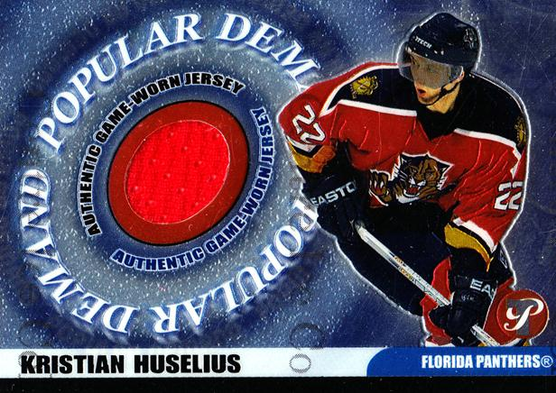 2003-04 Topps Pristine Popular Demand Jersey #PDKH Kristian Huselius<br/>1 In Stock - $5.00 each - <a href=https://centericecollectibles.foxycart.com/cart?name=2003-04%20Topps%20Pristine%20Popular%20Demand%20Jersey%20%23PDKH%20Kristian%20Huseli...&quantity_max=1&price=$5.00&code=509492 class=foxycart> Buy it now! </a>
