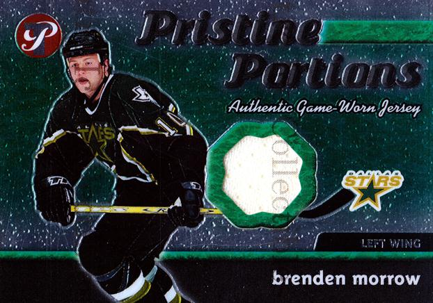 2003-04 Topps Pristine Portions Jersey #PPJBMW Brenden Morrow<br/>1 In Stock - $5.00 each - <a href=https://centericecollectibles.foxycart.com/cart?name=2003-04%20Topps%20Pristine%20Portions%20Jersey%20%23PPJBMW%20Brenden%20Morrow...&quantity_max=1&price=$5.00&code=509500 class=foxycart> Buy it now! </a>