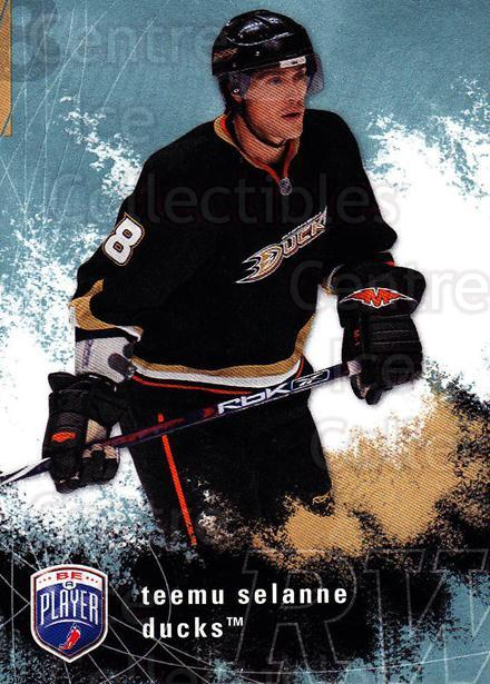 2007-08 Be A Player #4 Teemu Selanne<br/>2 In Stock - $2.00 each - <a href=https://centericecollectibles.foxycart.com/cart?name=2007-08%20Be%20A%20Player%20%234%20Teemu%20Selanne...&quantity_max=2&price=$2.00&code=509534 class=foxycart> Buy it now! </a>